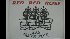 1980's PUNK ROCK  LP Vinyl Disc RECORD Dad And The Boys RED RED ROSE