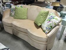 Brussels Sofa & 5 Spring Pillow Set Cream Rayon Neiman Marcus Horchow