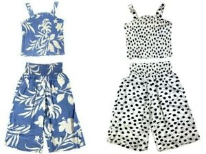Ex Chain Store Girls 2 Piece Floral Co-Ord Set Ages 4 5 6 7 8 9 10 11 12 13 14