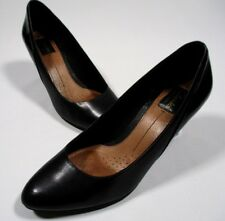 Clarks Artisan Black Leather Active Air Heels Shoes Size 9 M Women's