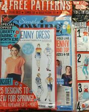 Simply Sewing UK Issue 28 The Jenny Dress 4 Free Patterns Knit FREE SHIPPING sb