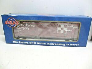ATLAS O Evans 53' Double Plug Door Box Car Ralston Purina 3-Rail 6504-1 Vintage