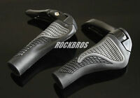 ROCKBROS MTB Bike Lock-on Handlebar Grips Rubber & Aluminum Barend Bar Ends