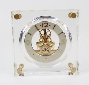 Seiko Clock Quartz Lucite Skeleton Movement QAW105G Made In Japan