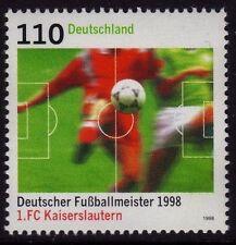 WEST GERMANY MNH STAMP DEUTSCHE BUNDESPOST GERMAN FOOTBALL 1998 SG 2866