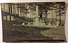 CEMETERY GRAVESTONES New Boston, MA Sibley Family Plot Real Photo Postcard c1910