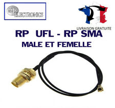 UFL - RP SMA Connector / Jack / Cordon / Câble / Pigtail / MALE ET FEMELLE
