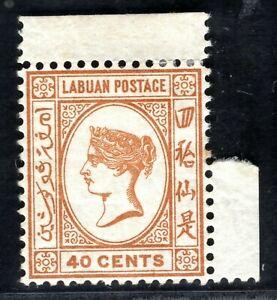 North Borneo LABUAN QV SG.47a 40c Brown-Buff (1893) Mint MNH Cat £50+ XBLUE24