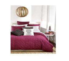 New Bar Iii Home Box Pleat King Pillow Sham Wine 100 % Cotton $40 Bedding