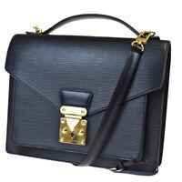 Auth Louis Vuitton Monceau 2Way Shoulder Hand Bag Epi Leather BK M52122 91MC454