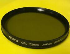 72mm HD PRO CIRCULAR POLARIZER CPL CP-L FILTER 72 mm MULITI-COATED ZEIKOS