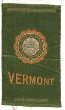 New listing 1910s S25 tobacco / cigarette / college silk University of Vermont