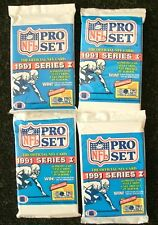 NFL Pro Set--Series I Football Cards--1991--Sealed Pack--Lot of 4--FREE SHIPPING