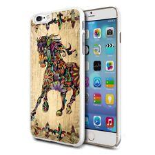 Colourful Horse Design Hard Back Case Cover Skin For Various Phones