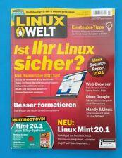 LINUX WELT  2.2021 Februar/März mit DVD!!! Ist ihr Linux sicher? NEU + ungelesen