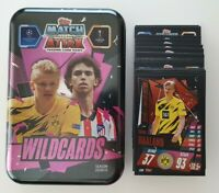2020/21 Match Attax Wildcards Mega Tin + 50 cards (10 foil) inc Haaland Limited