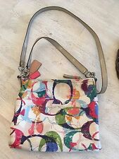 Coach Stamped C Poppy Hippie Crossbody Shoulder Bag Purse 31143E Multi Colored