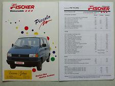 Prospekt Volkswagen VW Bus T4 Fischer Wohnmobile Piccolo, 9.1992, 4 S. + Preise