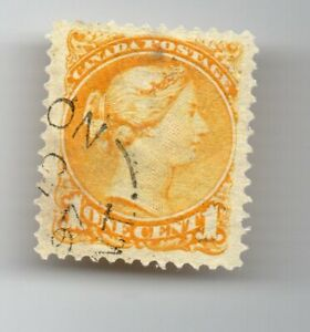 City letters  cancel on a 1 c Small Queen