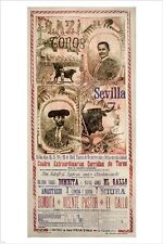 corridas de toros 1911 VINTAGE TRAVEL POSTER sevilla spain UNIQUE 24X36 new