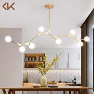 Modern Glass Globe Chandelier Metal Branch 8 Light Pendant Light Ceiling Fixture