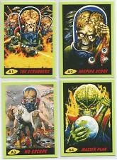 Mars Attacks 2014 ~ CALENDAR 4-CARD INSERT SET #A1-A4 (Rare) Topps