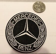 """Mercedes Benz  Logo/ Emblem Embroidered Iron On Patches. 3"""" Round Nice!"""