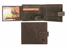 Ranger Men's Super Rugged Brown Hunter Trifold Leather Wallet  Distressed New