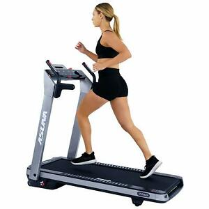 Sunny Health & Fitness ASUNA SpaceFlex Electric Running Treadmill with Auto I...
