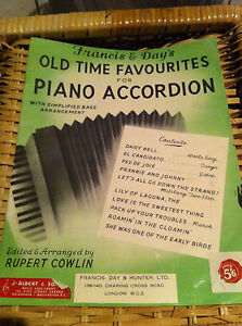 Francis Day's Old Time Favourites Piano Accordion Collectors