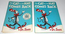 1958 early Dr. Seuss  THE CAT IN THE HAT COMES BACK w/ DJ