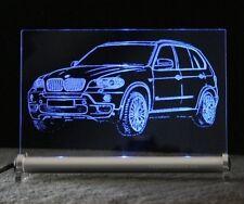 BMW X5 als AutoGravur auf LED Leuchtschild - LED sign