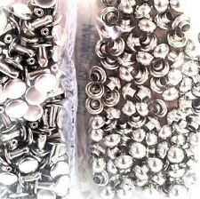 7mm DOMED RIVETS 100 Pack 11320-12 Tandy Leather Nickel Plate Dome Craft Rivet