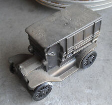 Vintage 1970s Metal 1916 Classic Car Bank with Moving Wheels