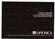 Sharp Optonica manual de instrucciones User Manual owners manual para RP - 7100 H
