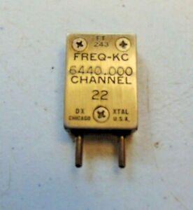 6440 KC Military Radio  FT-243 Vintage Quartz Crystal