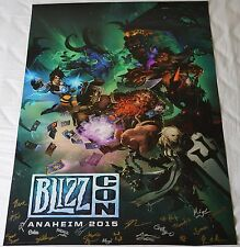 Blizzcon 2015 Exclusive Key Art Signed Poster