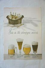 1956 Schlitz Beer Brochure Advertising Beer in the Champagne Manner