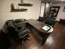 Office L Desk Furniture 60 Inch Cherry Wood - Used