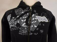Warm Women's Small Volcom Black w/ Super Cool Design Long Sleeve Full Zip Hoodie