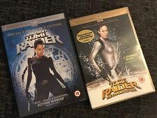 Tomb Raider & Tomb Raider (the Cradle of Life) DVD's- Lara Croft- FREE POSTAGE
