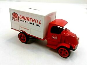 ERTL 1:25 SCALE DIE CAST BANK - 1926 MACK DELIVERY TRUCK - CHURCHILL TRUCK