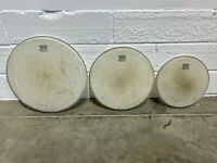 Remo Weathering Emperor Batter Coated Tom Drum Heads Skins Set Of 3 Fusion Sizes