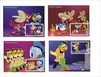 2017 DISNEY The Three Caballeros 8 SOUVENIR SHEETS Donald animation cartoons