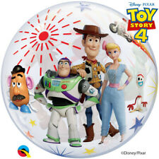 "TOY STORY 4 BALLOON 22"" QUALATEX SEE THRU BUBBLE DISNEY TOY STORY BALLOON"