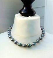 Tahiti Perlen Kette Unikat Perlen Kette Tahiti Perlen Collier 11,2-12,7 mm 4637