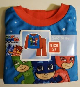 New  PJMASKS PJ Masks 2 piece Flannel Baby Pajamas Set Size 2T. Shipped free