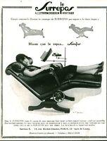 Publicité ancienne fauteuil le Surrepos 1929 issue de magazine