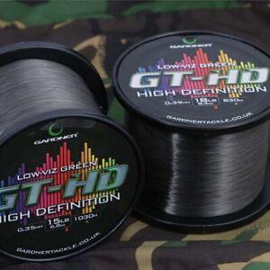 Gardner Tackle GT-HD High Definition Green Line Carp Coarse Fishing