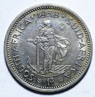 1958 South Africa One 1 Shilling - Elizabeth II - Lot 2136